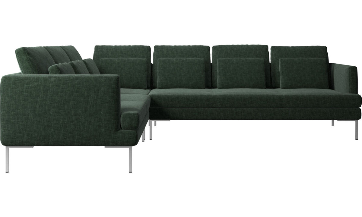 Corner sofas - Istra 2 corner sofa - Green - Fabric