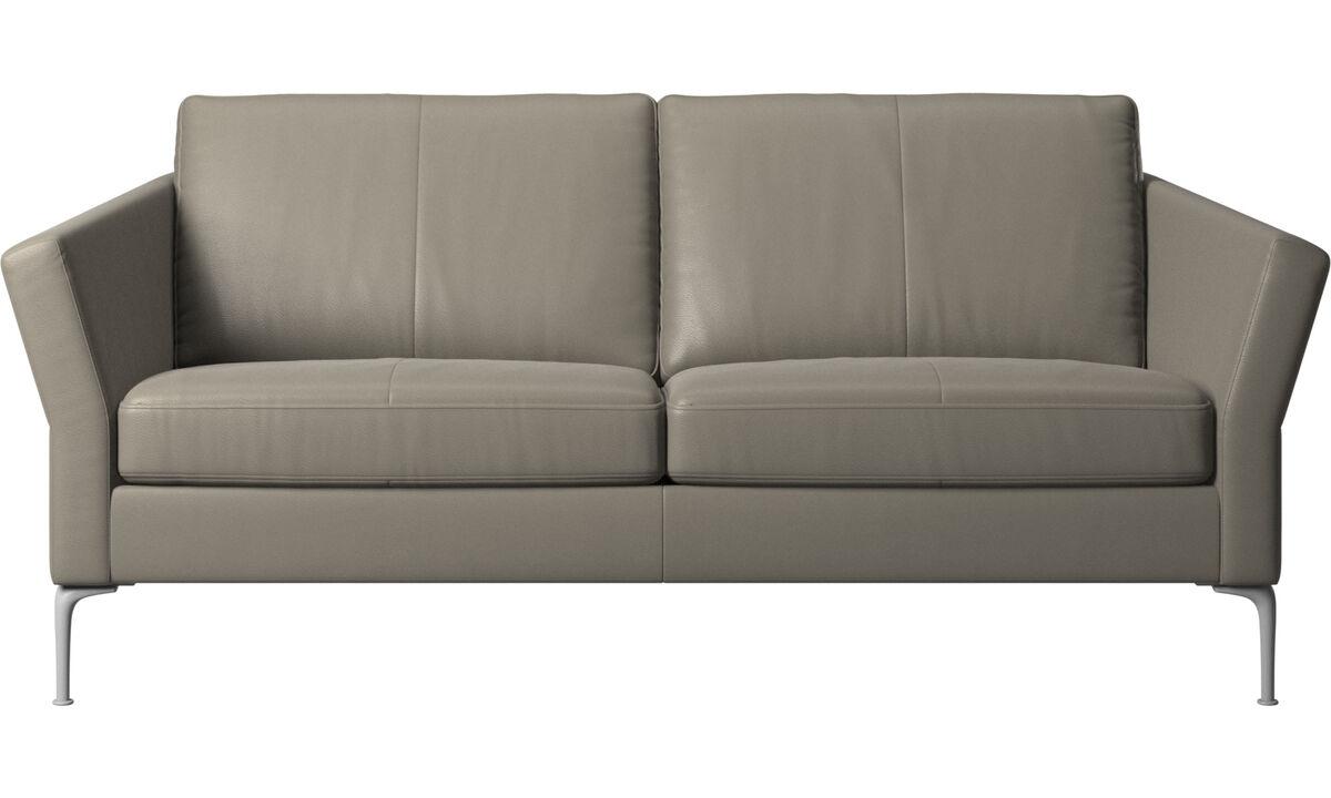 Sofás de 2 plazas y media - sofá Marseille - En gris - Piel
