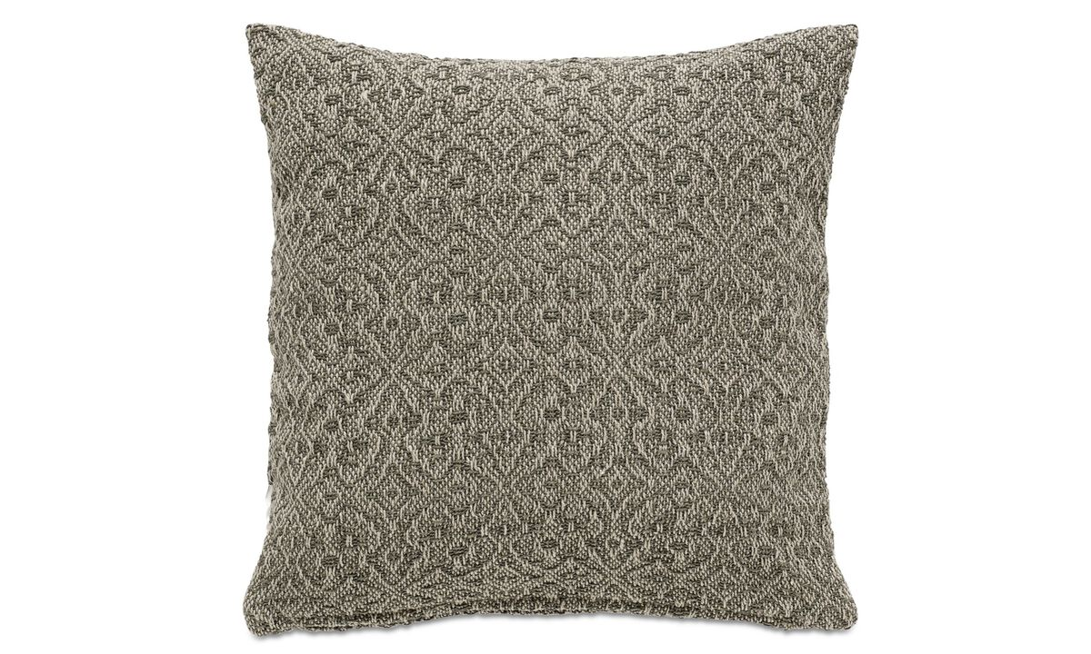 Patterned cushions - Jacquard cushion - Green - Fabric