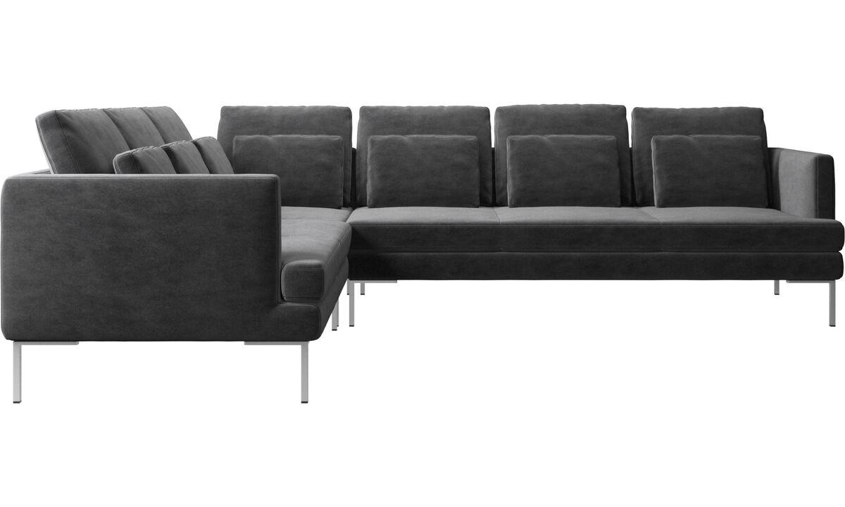New designs - Istra 2 corner sofa - Gray - Fabric