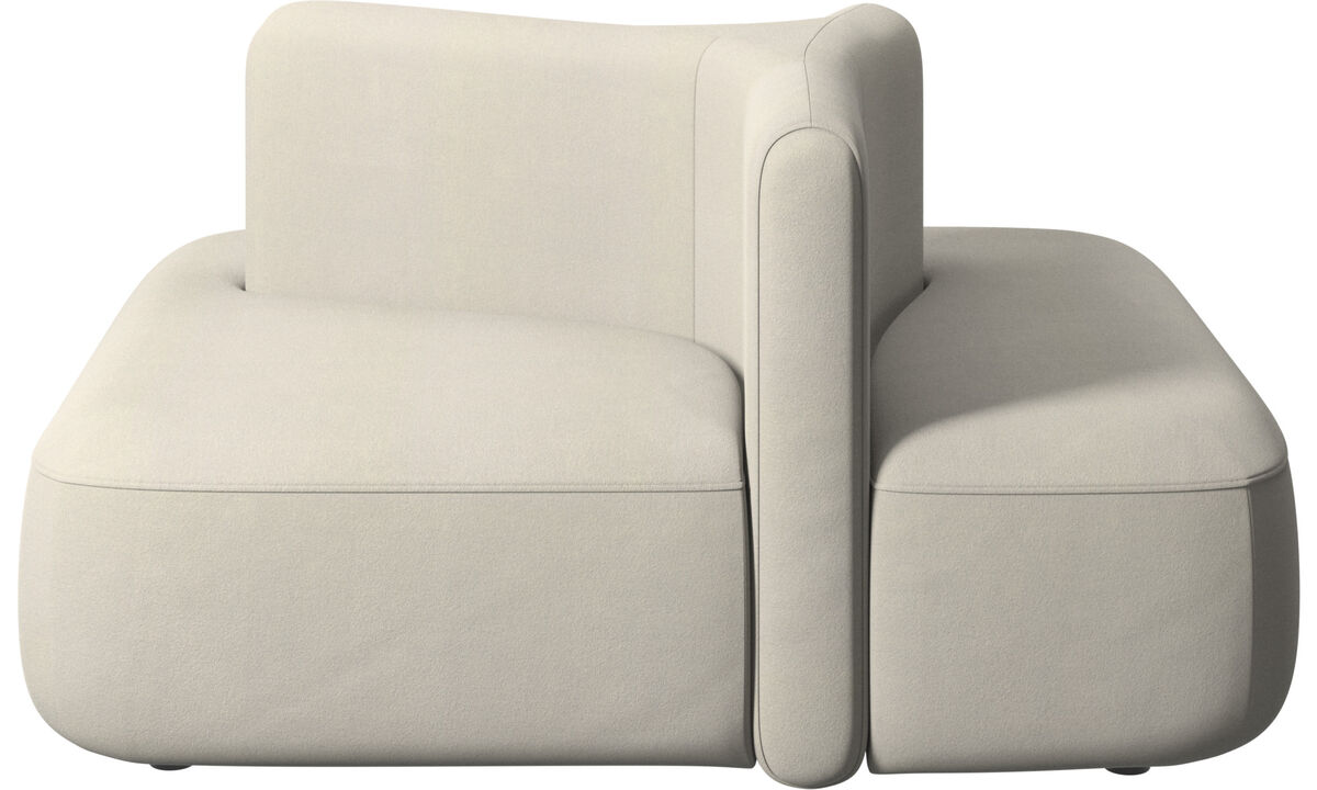Modular sofas - Ottawa square low back - White - Fabric