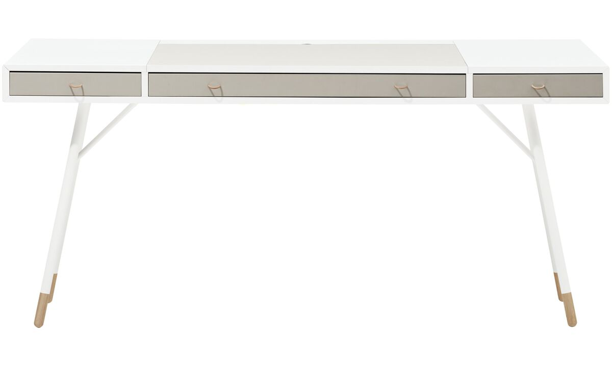 Desks - Cupertino desk - rectangular - White - Lacquered