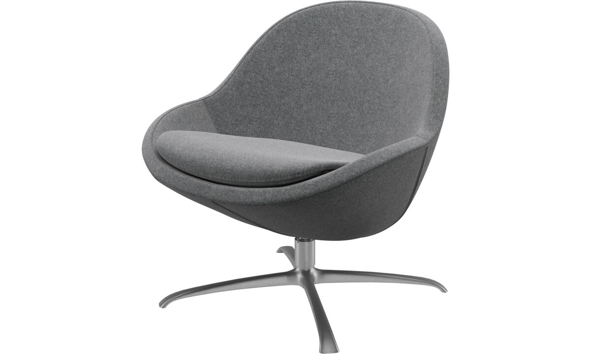 Armchairs - Veneto chair with swivel function - Grey - Fabric