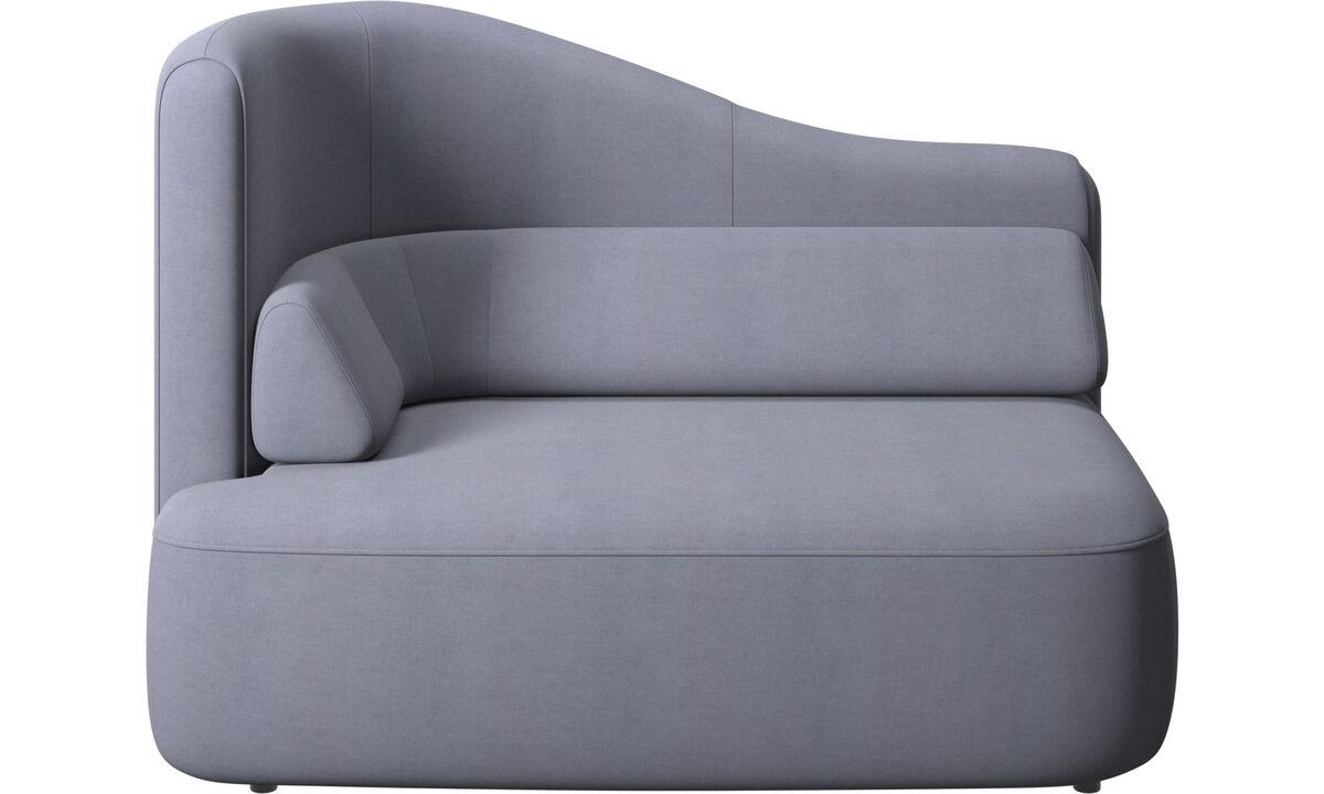 Modular sofas - Ottawa bracciolo sinistro 1,5 posti a sedere - Blu - Tessuto