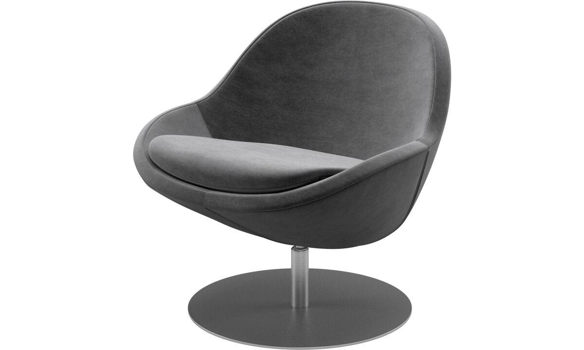 休闲椅 - 带旋转功能的Veneto椅子 - 灰色 - 布艺