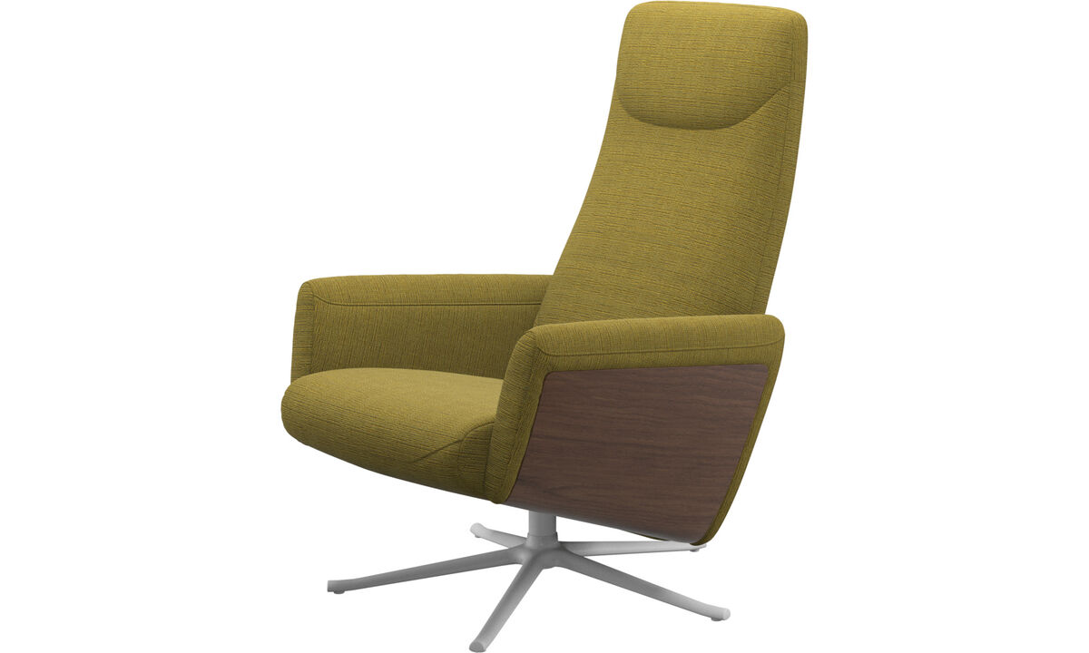 Relax-Sessel - Lucca Relax-Sessel mit Drehfunktion - Gelb - Stoff