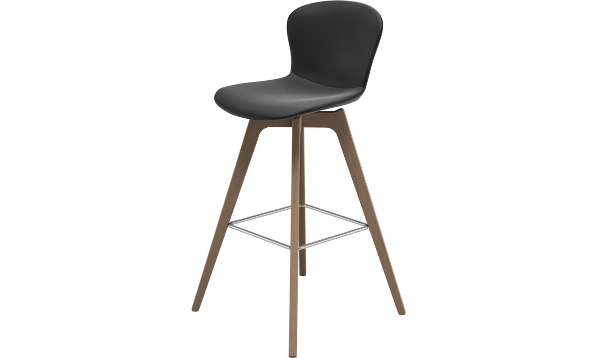 Bar stools - Adelaide barstool - Black - Leather