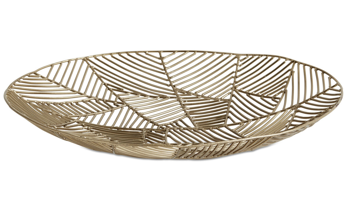 Decoration - Wire bowl - Yellow - Metal