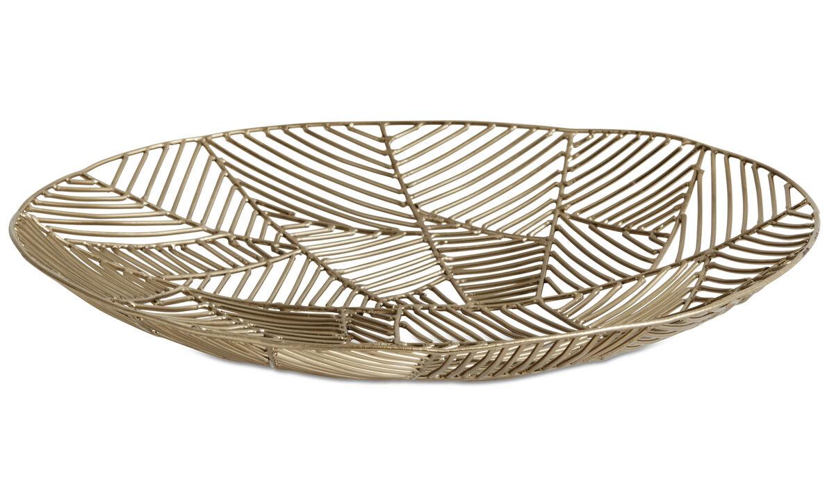 Dekoration - Wire Schale - Gelb - Metall