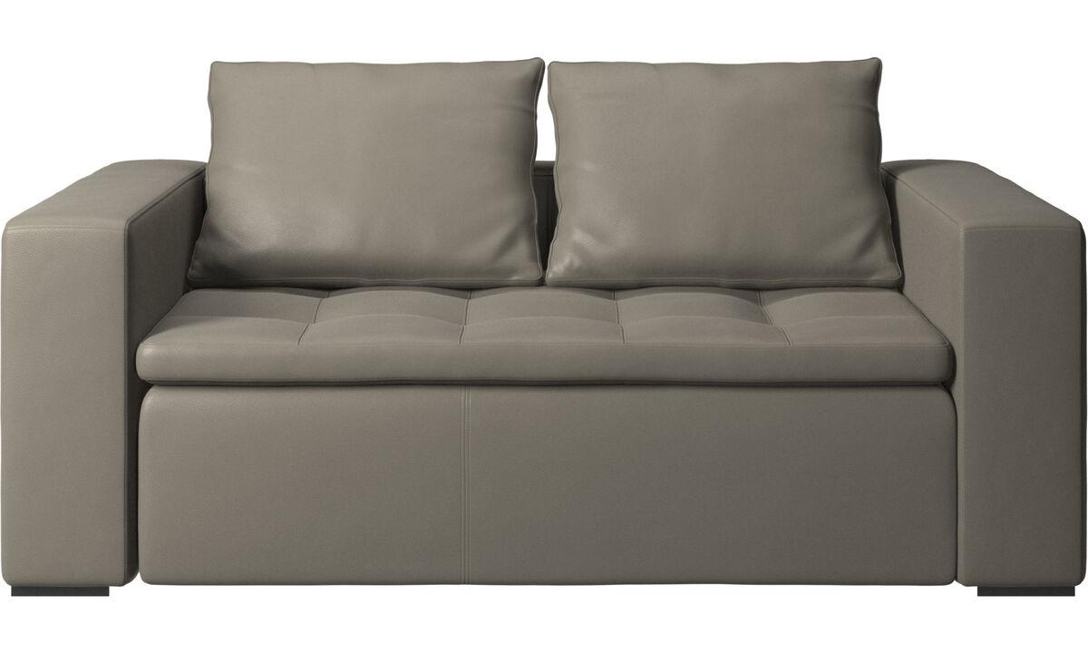 Sofás de 2 plazas - Sofá Mezzo - En gris - Piel