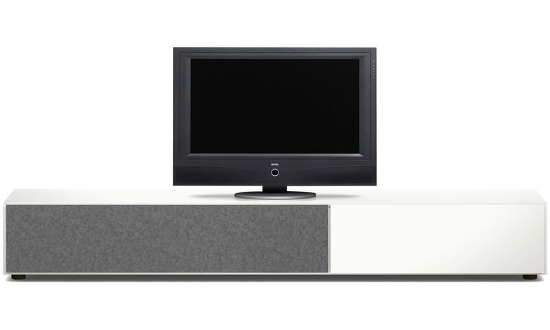 meubles tv meuble lugano avec tiroir et porte abattante boconcept. Black Bedroom Furniture Sets. Home Design Ideas