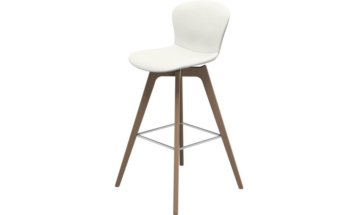 Bar stools - Adelaide barstool - White - Leather
