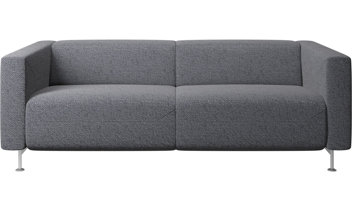 2.5 seater sofas - Parma reclining sofa - Blue - Fabric