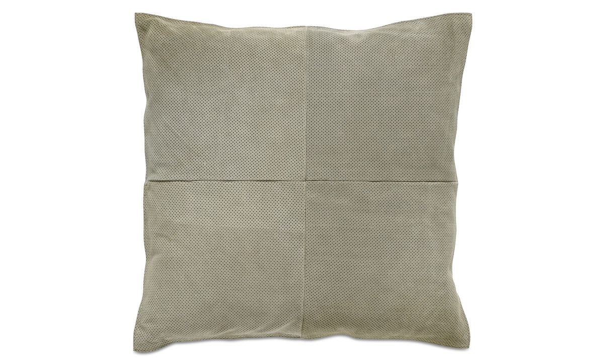 Leather cushions - Suede cushion - Green - Fabric