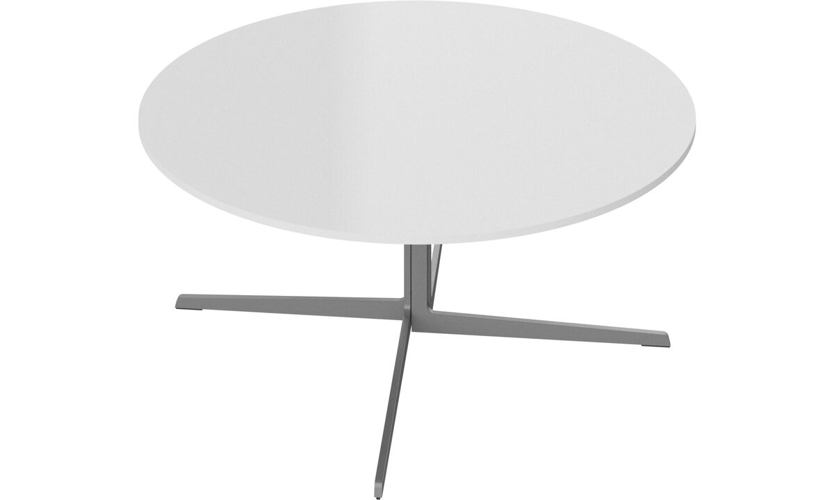 Mesas de centro - mesa lateral Sevilla - redonda - White - Vidro