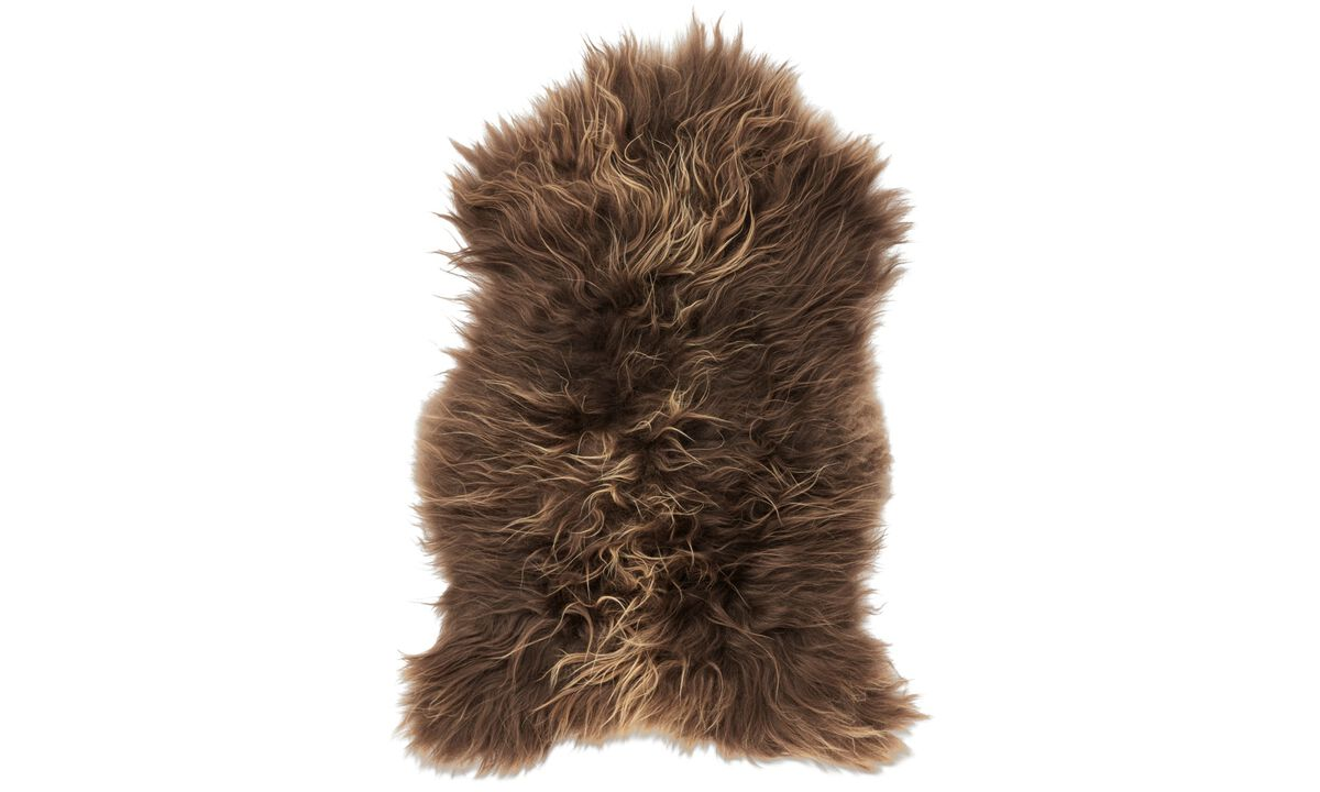 Throws & bedspreads - Sheepskin - Brown - Sheepskin