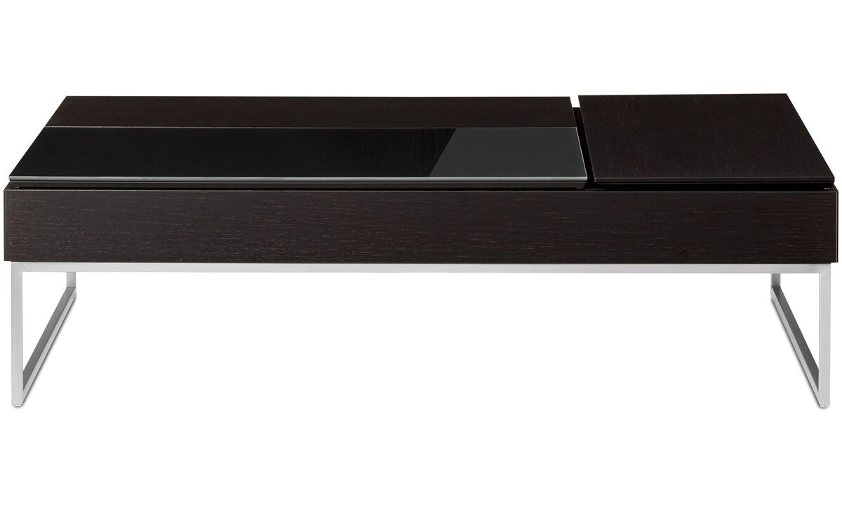 Coffee tables - Chiva functional coffee table with storage - rectangular - Black - Oak