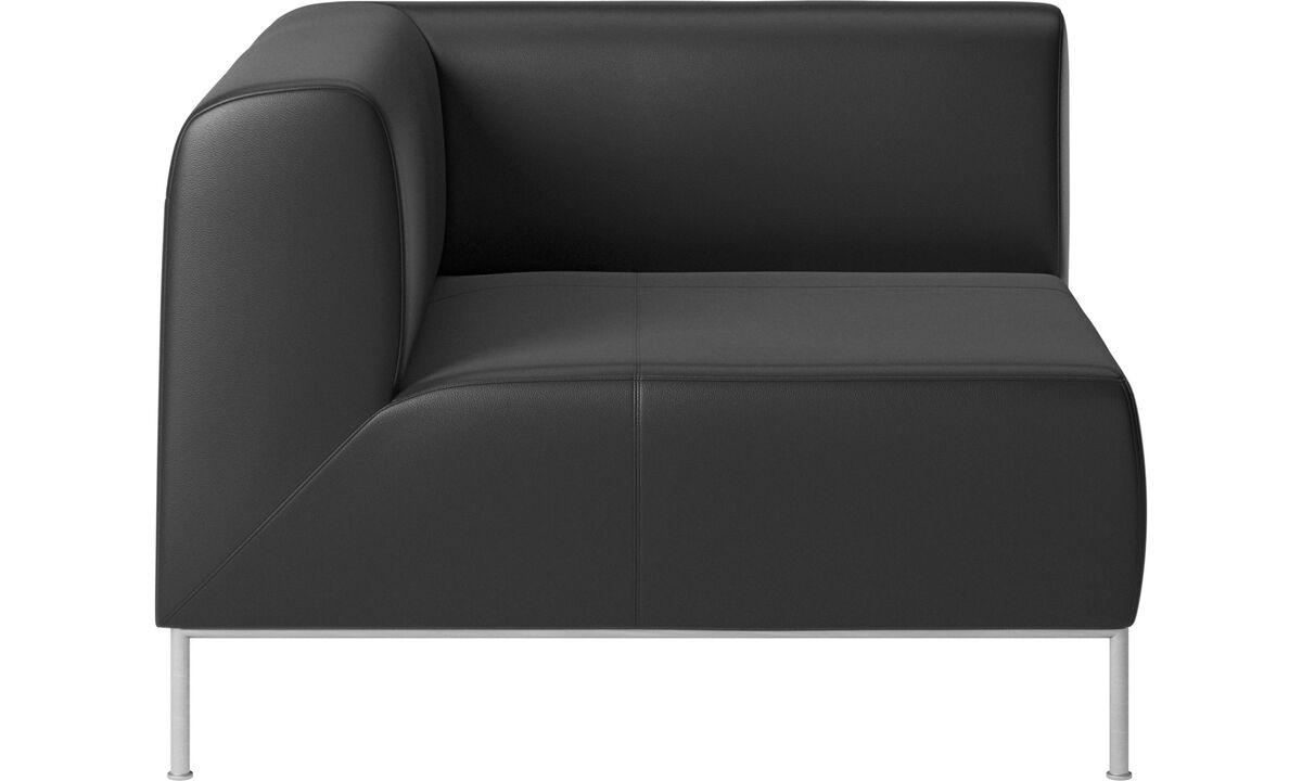 Modulære sofaer - Miami hjørnemodul venstre side - Sort - Læder