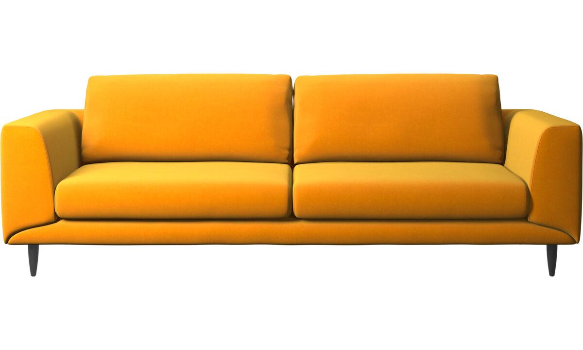 Sofás de 3 plazas - sofá Fargo - Naranja - Tela