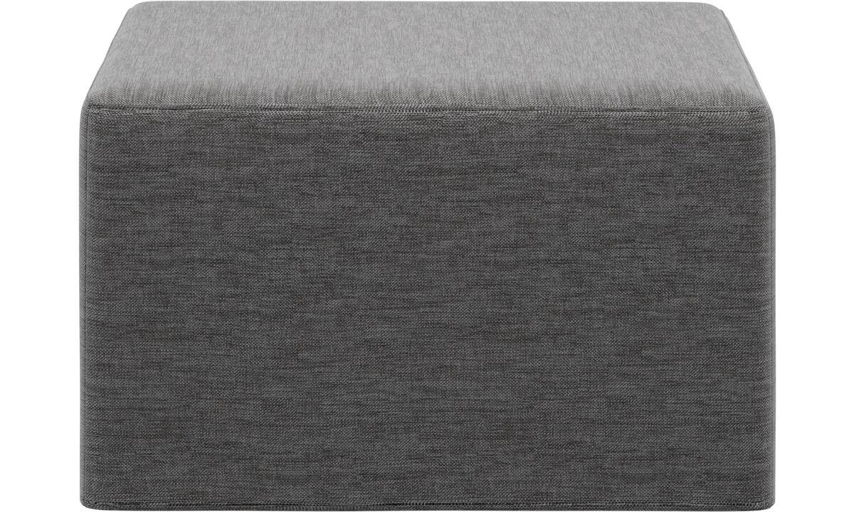 Sofa beds - Xtra footstool with sleeping function - Grey - Fabric
