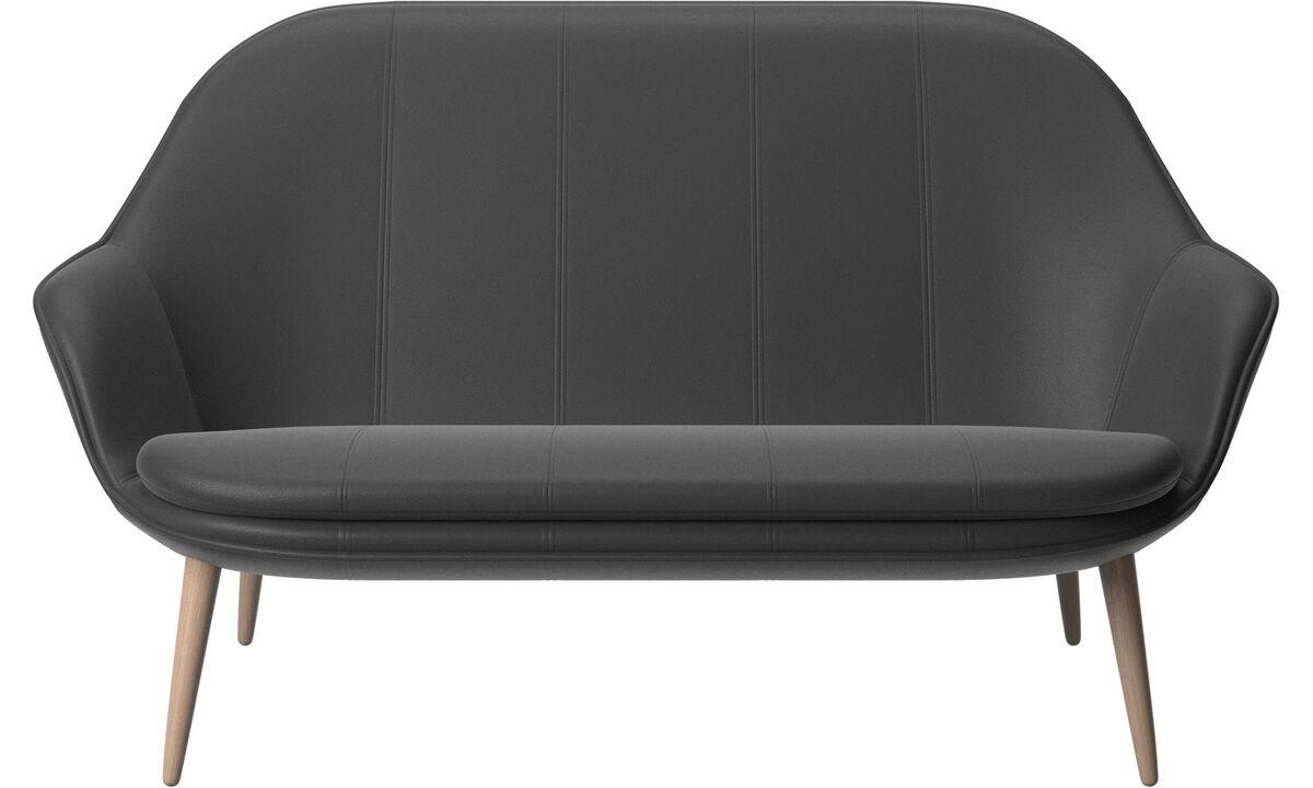 2 seater sofas - Adelaide sofa - Black - Leather