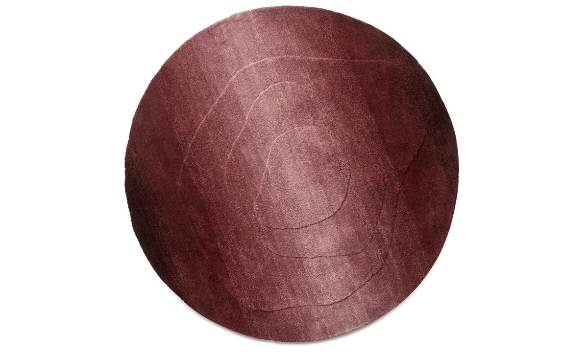 Round rugs - Nivel rug - round - Red - Wool
