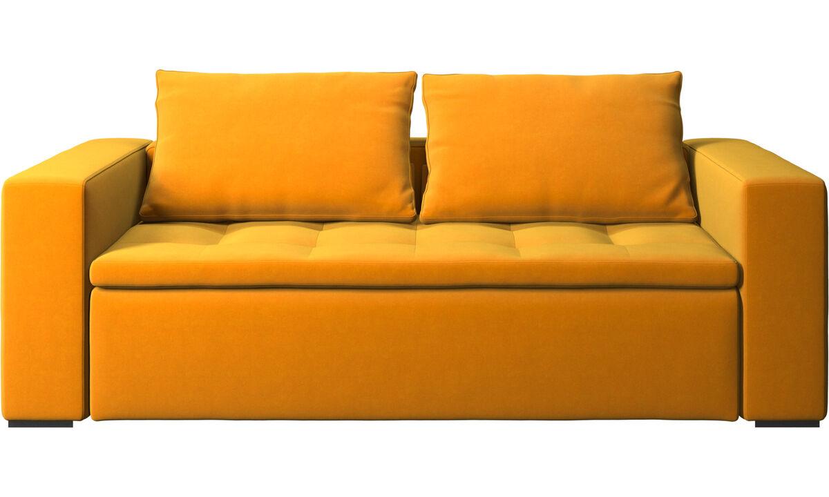 2.5 seater sofas - Mezzo sofa - Orange - Fabric