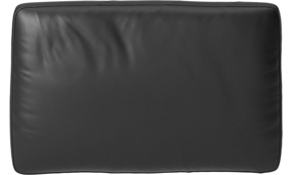 Furniture accessories - Amsterdam cushion - Black - Leather