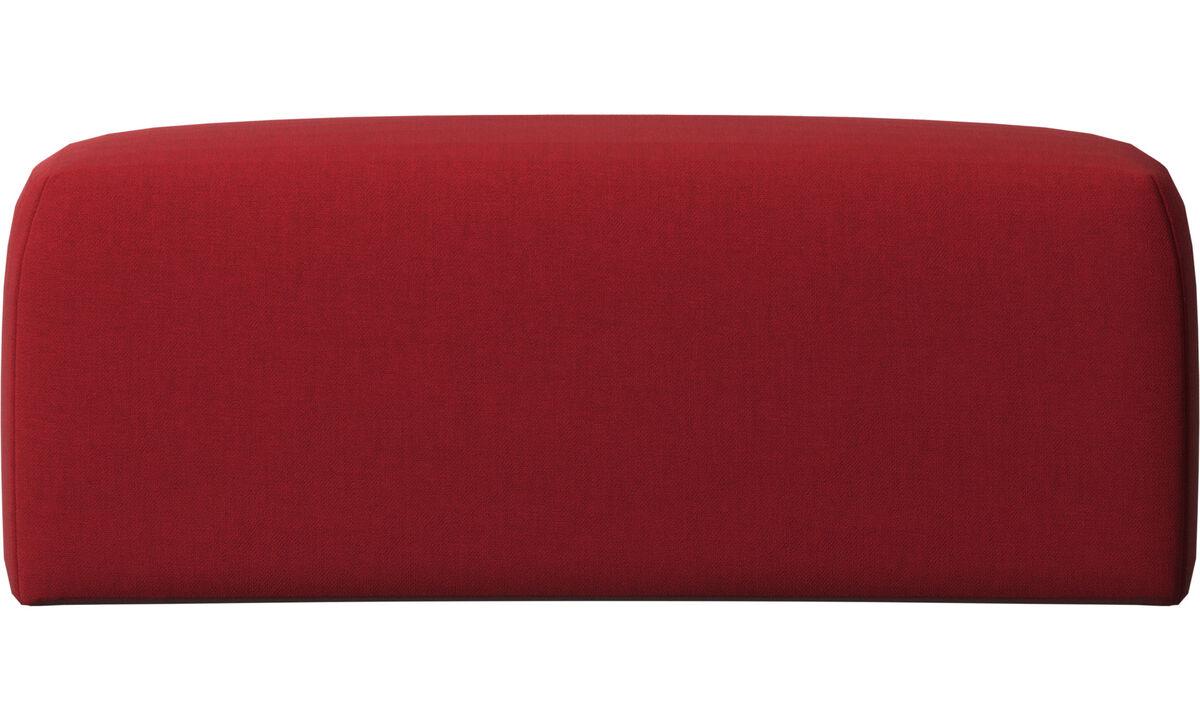 Accesorios para muebles - Cojin de respaldar Atlanta - Rojo - Tela