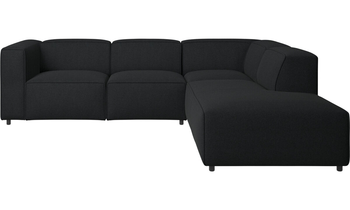 Sofás reclinables - Sofá esquinero Carmo con movimiento - En gris - Tela