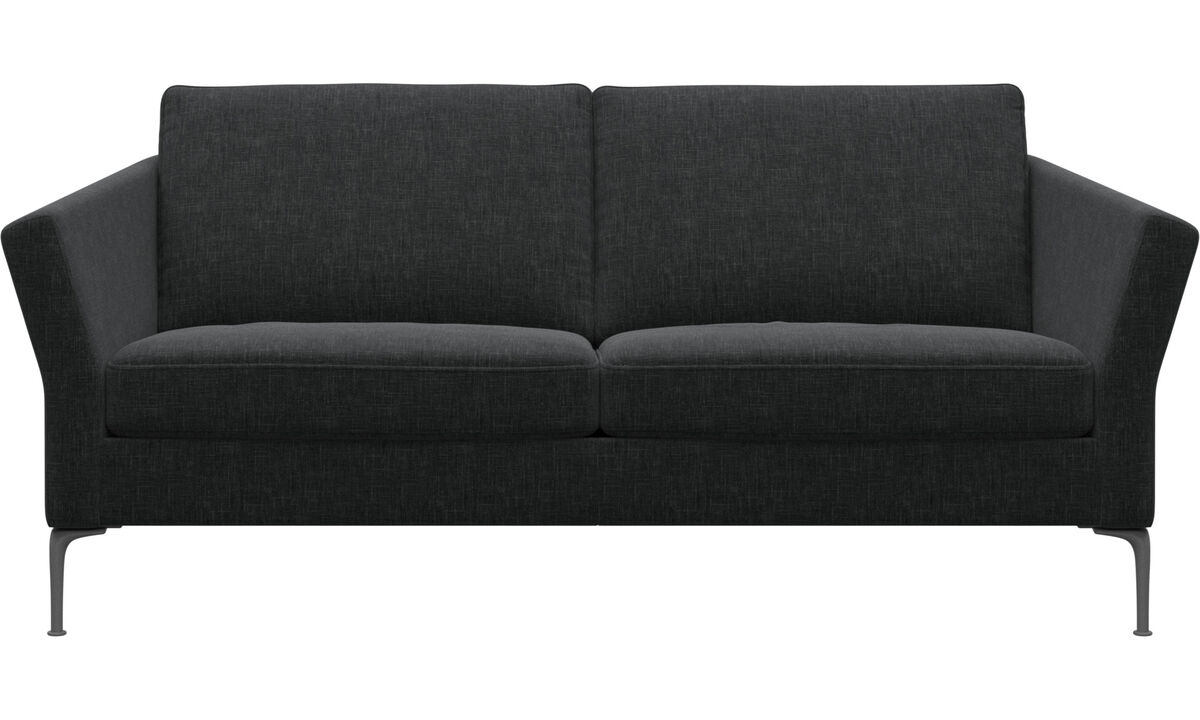 2.5 seater sofas - Marseille sofa - Gray - Fabric