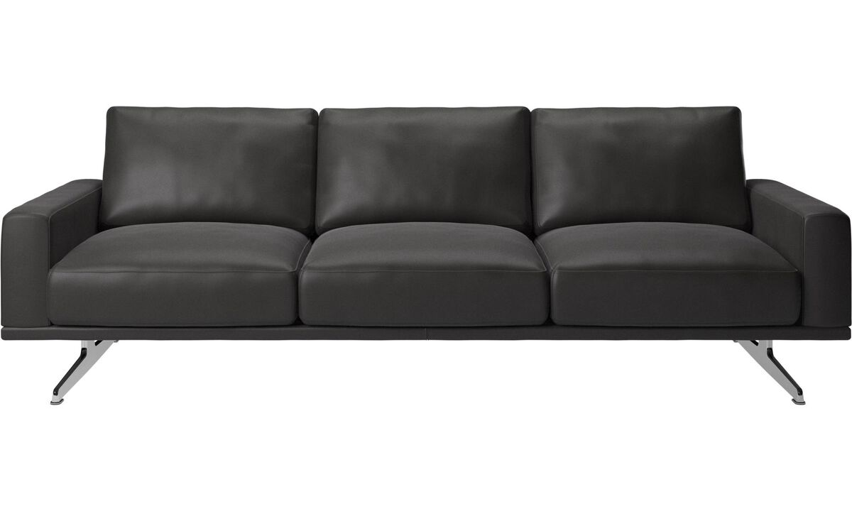 3 seater sofas - Carlton sofa - Black - Leather