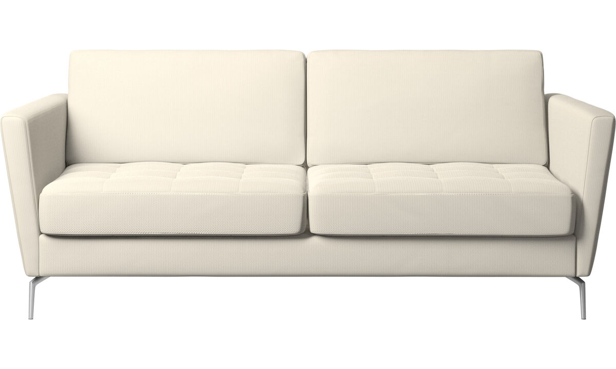 Sofa beds - Osaka sofa bed, tufted seat - White - Fabric