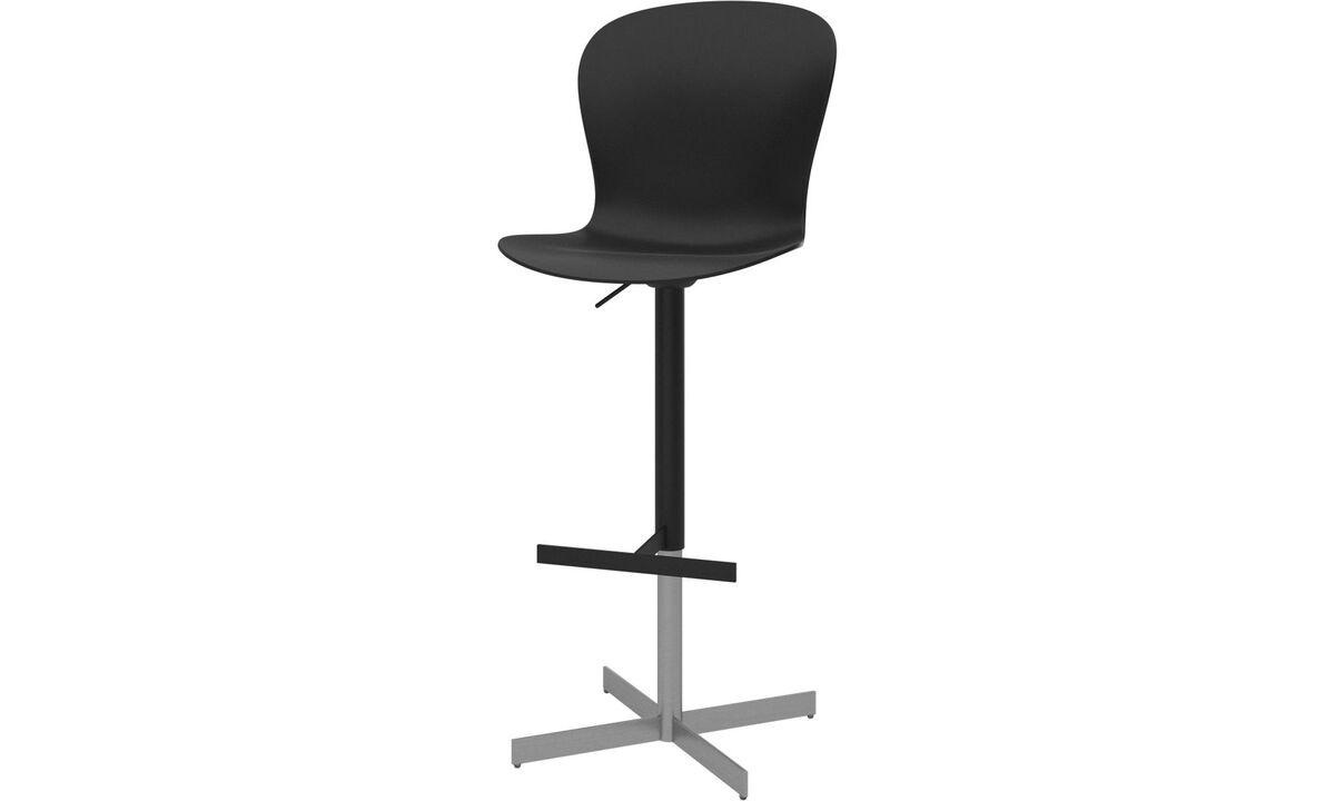 New designs - Adelaide barstool with gas cartridge - Black - Metal