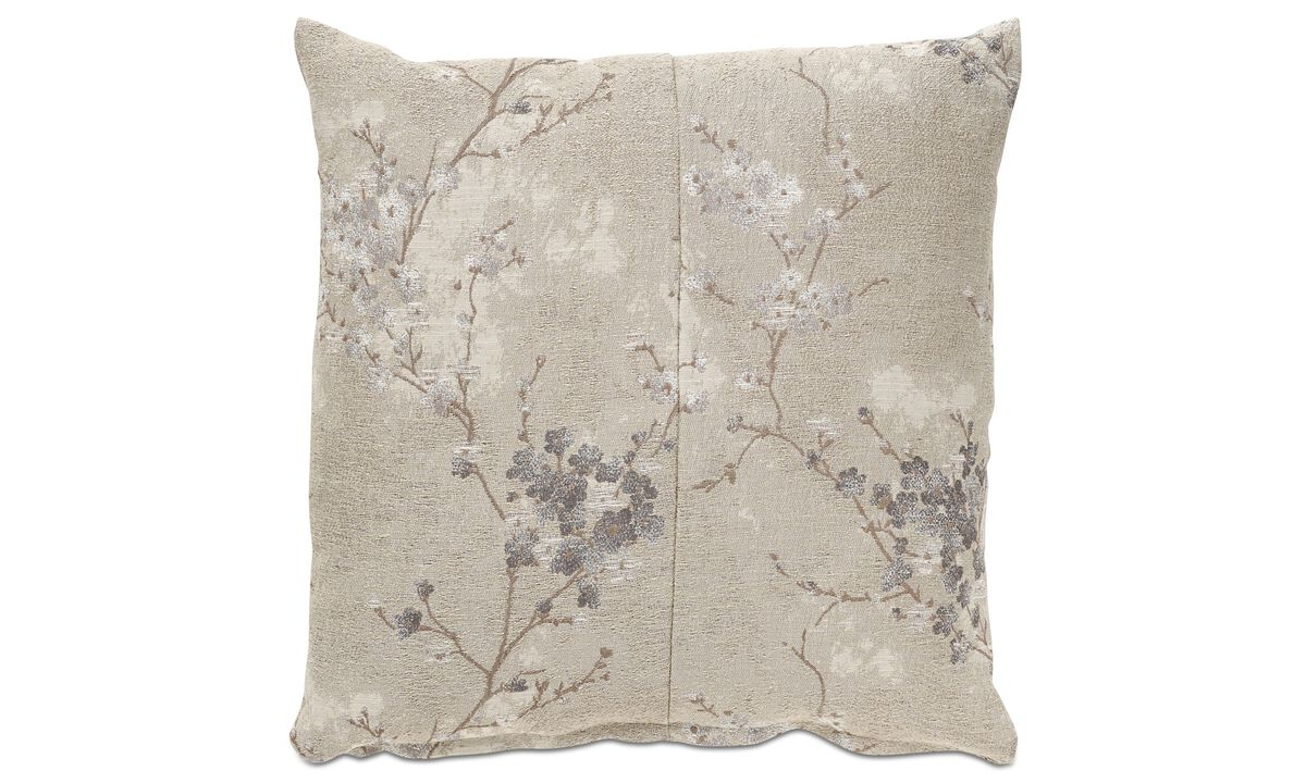 Cushions - Silver blossom cushion - Fabric