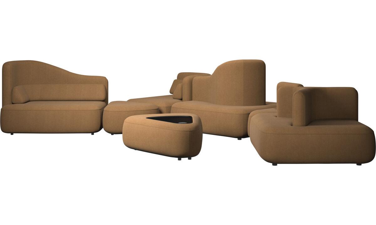 Sofás modulares - Sofá Ottawa - En marrón - Tela