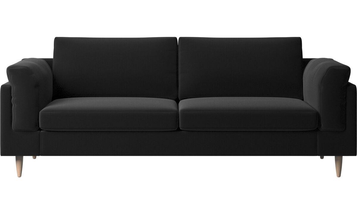 2.5 seater sofas - Indivi 2 sofa - Black - Fabric