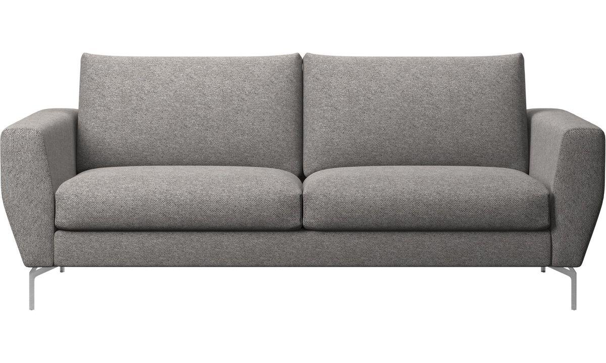 Sofás de 2 plazas y media - sofá Nice - En gris - Tela