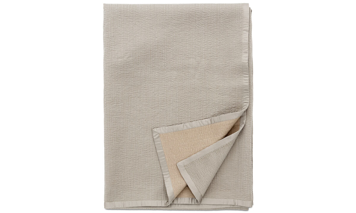 Throws & bedspreads - Pause bedspread - Grey - Fabric