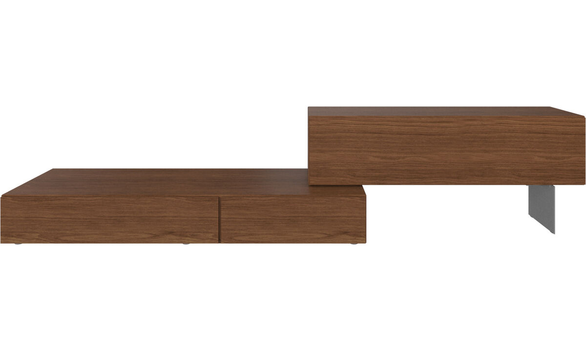 Wall systems - Lugano wall system with drop down doors - Brown - Walnut