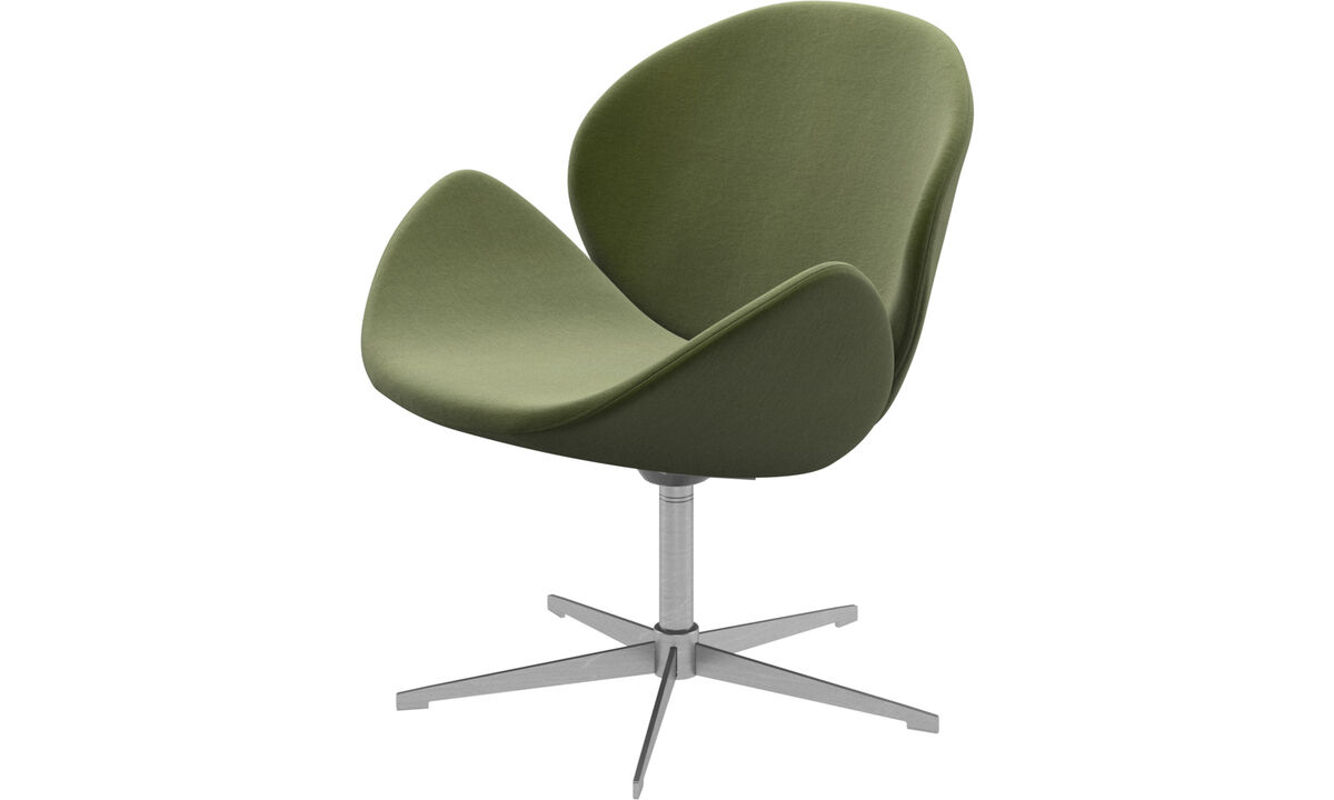 Armchairs - Ogi chair with swivel function - Green - Fabric