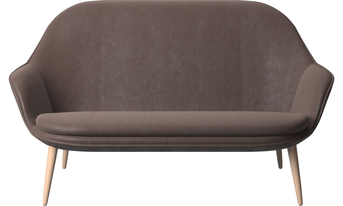 2 seater sofas - Adelaide sofa - Brown - Leather