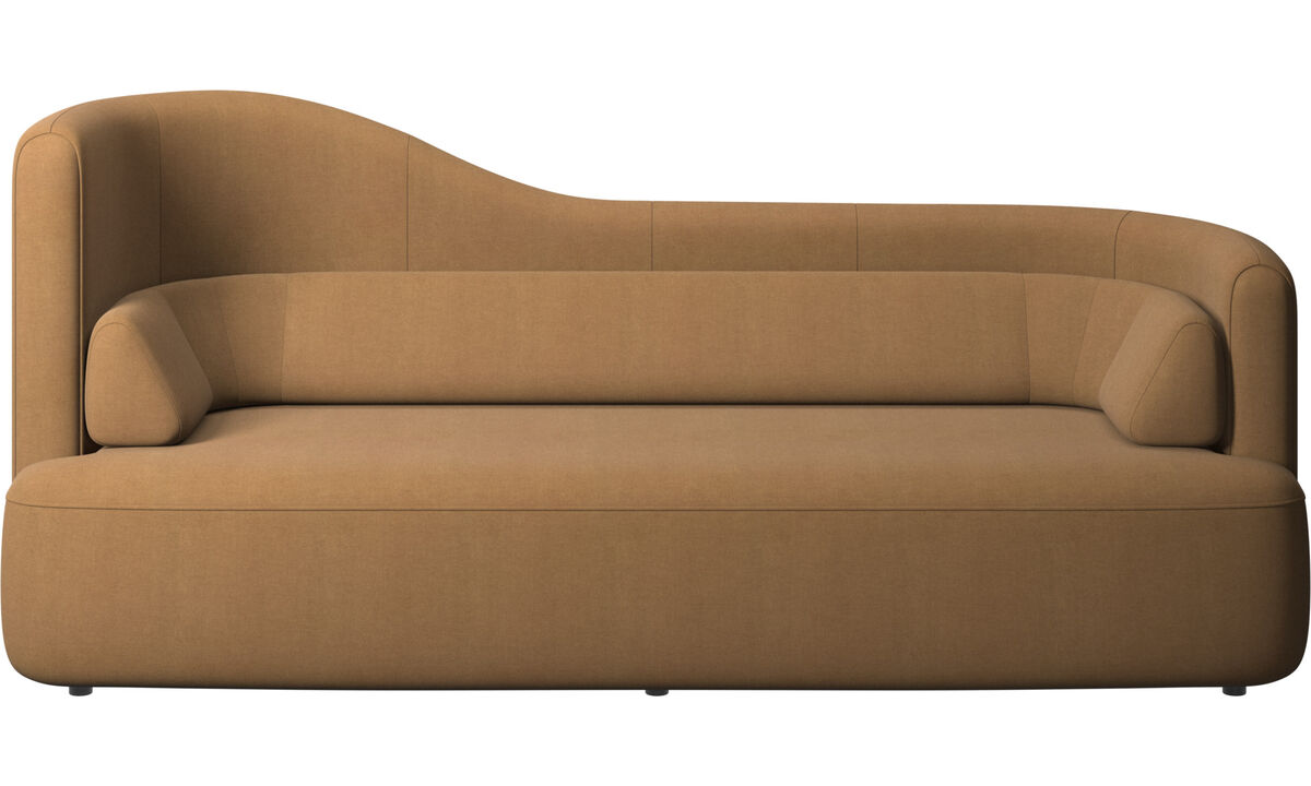 Sofás de 2 plazas y media - Sofá Ottawa - En marrón - Tela