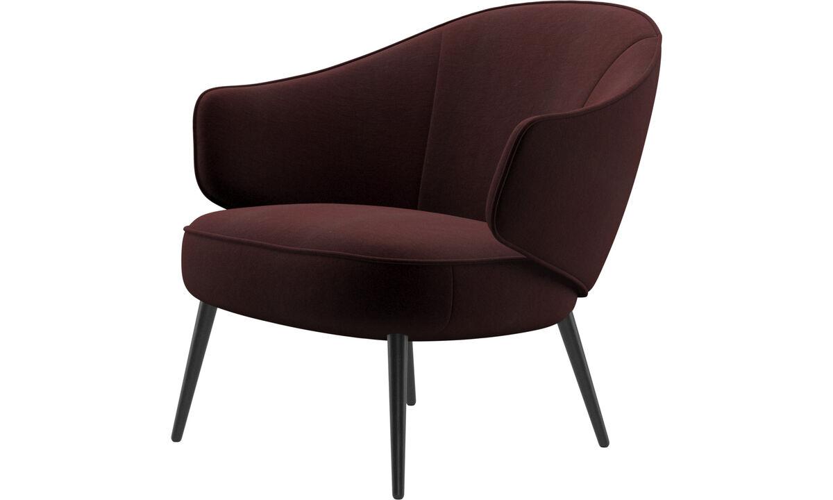 Armchairs - Charlotte chair - Purple - Fabric