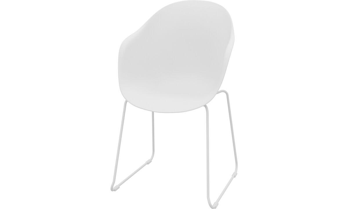 Cadeiras de jantar - Cadeira Adelaide (para uso no interior e exterior) - White - Plástico