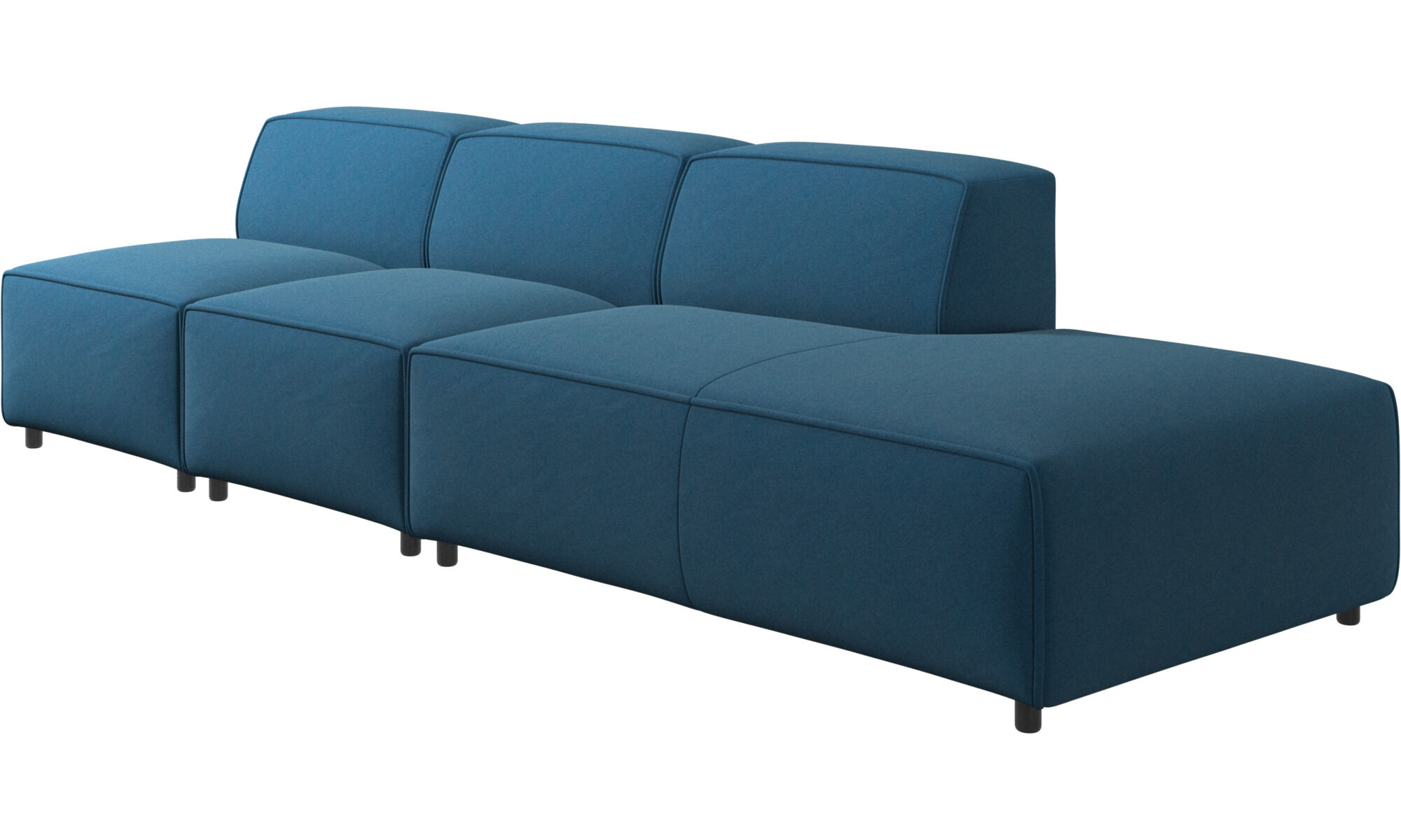 Merveilleux ... Sofas With Open End   Carmo Sofa With Lounging Unit   Blue   Fabric ...