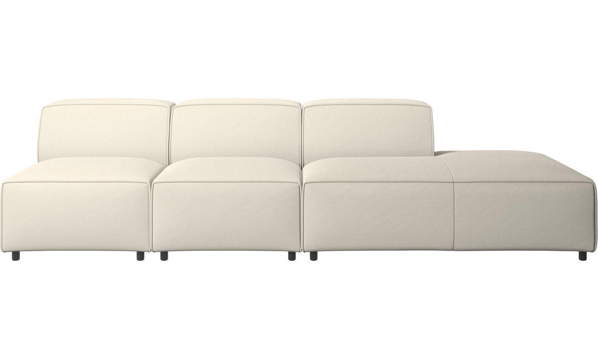 Modular sofas - Carmo sofa with lounging unit - White - Fabric