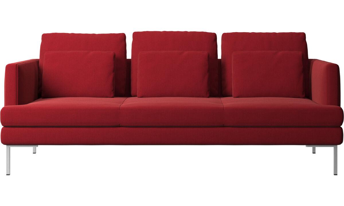 Sofás de 3 lugares - Sofá Istra 2 - Vermelho - Tecido