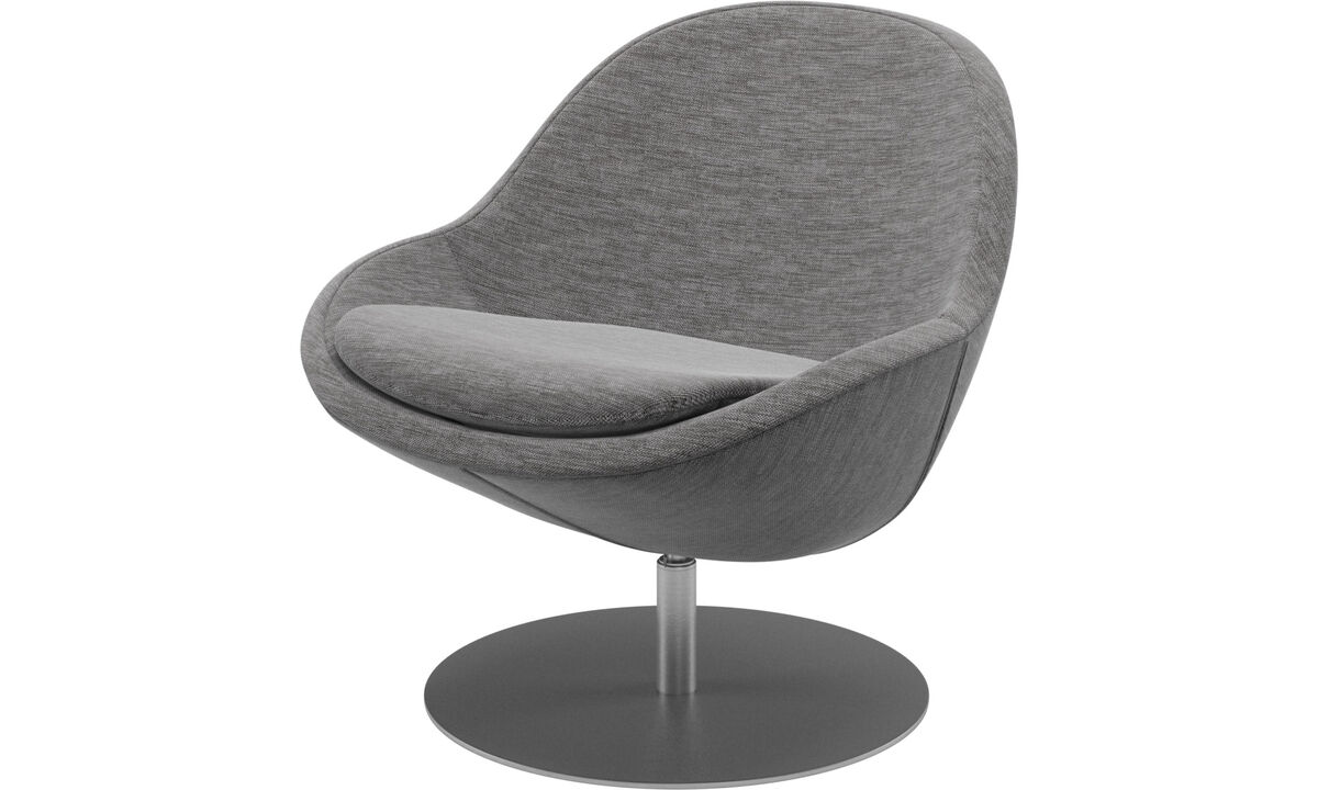 Sessel - Veneto Sessel mit Drehfunktion - Grau - Stoff