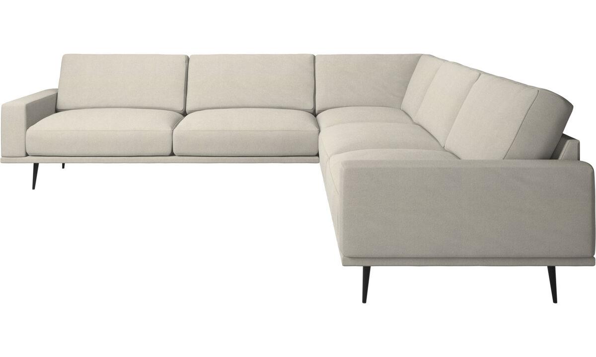 Corner sofas - Carlton corner sofa - White - Fabric